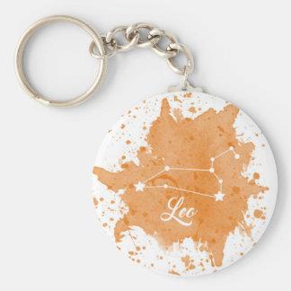 Leo Orange Keychain