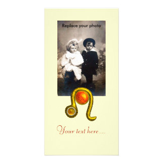 LEO PHOTO GREETING CARD