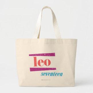 Leo Pink Large Tote Bag