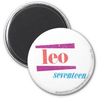 Leo Pink 6 Cm Round Magnet