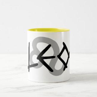 Leo Primal Text Mug