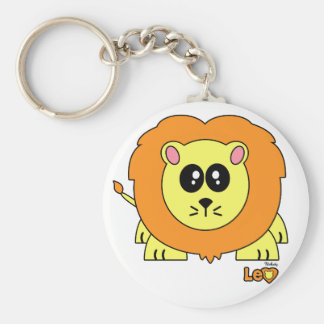 Leo Pudgie Pet Basic Round Button Key Ring