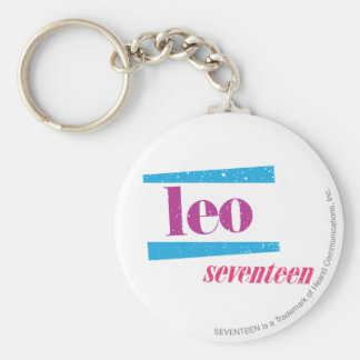 Leo Purple Key Ring
