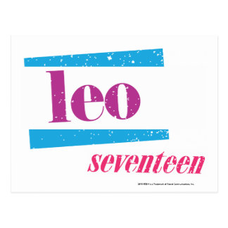 Leo Purple Postcard