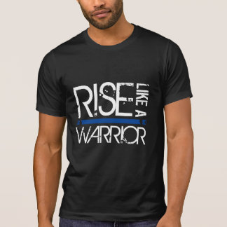 "LEO ""Rise Like A Warrior"" Thin Blue Line Tee"