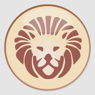 Leo Sign Lion Symbol Astrology Sticker
