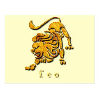 Leo Sign Postcard