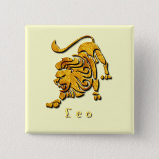 Leo Sign Square Pin