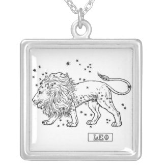 Leo Silver Plated Necklace