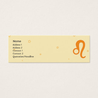 Leo - Skinny Mini Business Card