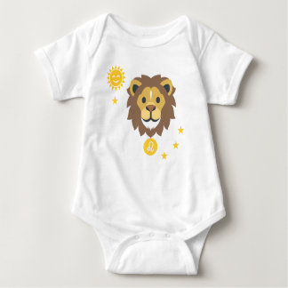 Leo smiling lion baby bodysuit - zodiac star sign