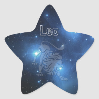 Leo Star Sticker