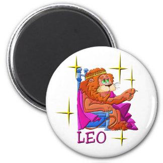 Leo (stars) 6 cm round magnet