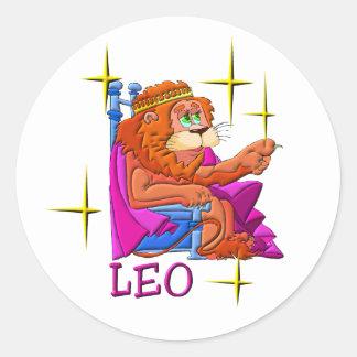 Leo (stars) classic round sticker