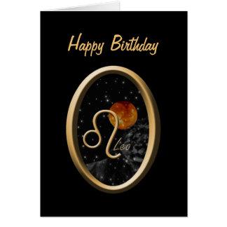 Leo Sun Lion Zodiac Birthday Greeting Card