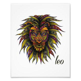 Leo Symbol Photographic Print