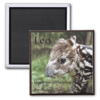 Leo the Andean Tapir Refrigerator Magnet