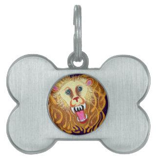 Leo the Golden Lion Pet Name Tag