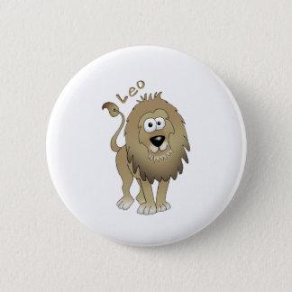 Leo the lion! 6 cm round badge