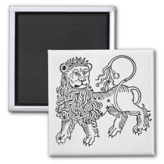 Leo (the Lion) an illustration from the 'Poeticon Square Magnet