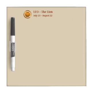 LEO - The Lion Astrological Sign Dry Erase Board