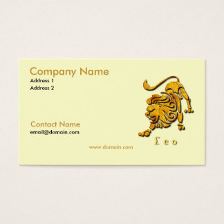 Leo the Lion Business Card
