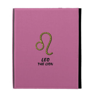 Leo the lion case iPad folio case