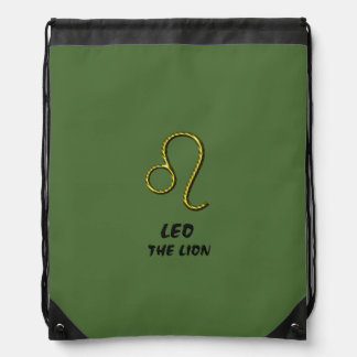 Leo the lion drawstring bag