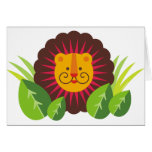 leo, the lion greeting cards