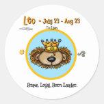 Leo the Lion - Horoscope Classic Round Sticker