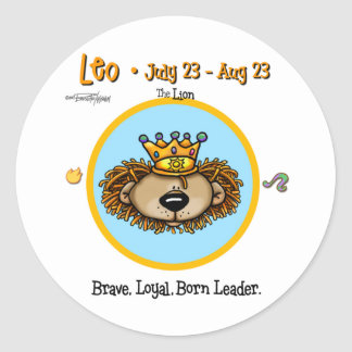 Leo the Lion - Horoscope Classic Round Sticker