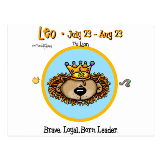 Leo the Lion - Horoscope Postcard