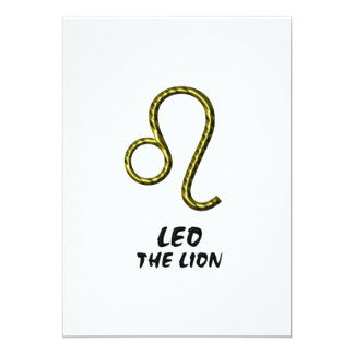 Leo the lion invitation