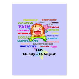Leo, the Lion,  Zodiac Sign Custom Astrology Gifts Postcard