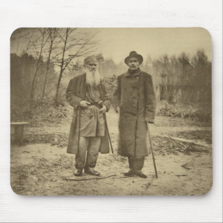 Leo Tolstoy and the author Maxim Gorky Mouse Pad