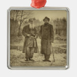 Leo Tolstoy and the author Maxim Gorky Ornament