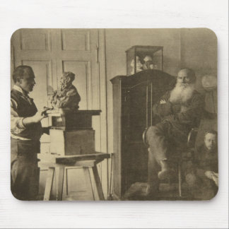 Leo Tolstoy and the sculptor Prince Paolo Mouse Mat