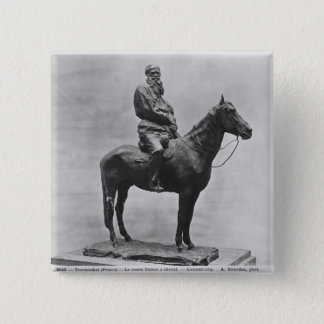 Leo Tolstoy riding Delire 15 Cm Square Badge