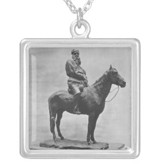 Leo Tolstoy riding Delire Silver Plated Necklace