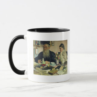 Leo Tolstoy with his wife in Yasnaya Polyana Mug