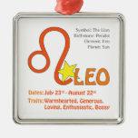 Leo Traits Square Ornament