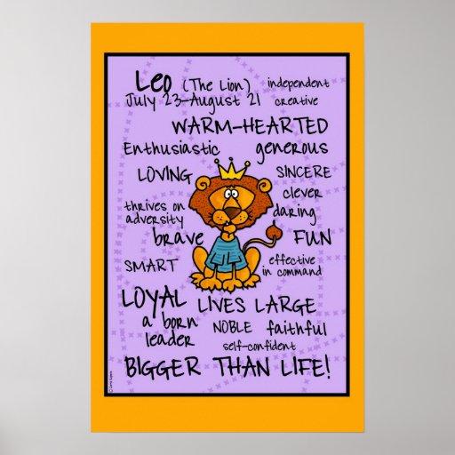 leo wordcloud poster