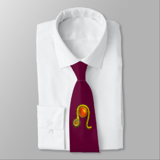 LEO, Yellow Topaz and Gold Tie