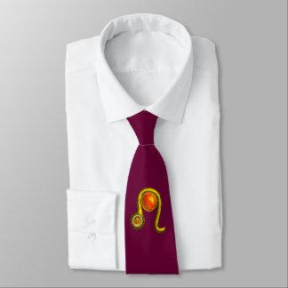 LEO, Yellow Topaz and Gold Tie