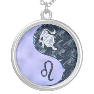 Leo Yin Yang Silver Plated Necklace