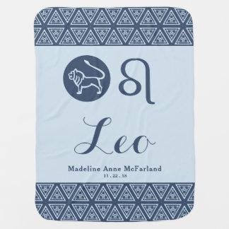 Leo Zodiac Baby Blanket