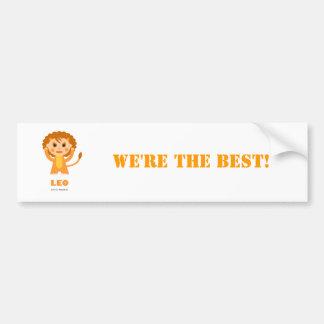 Leo Zodiac for Kids Car Bumper Sticker