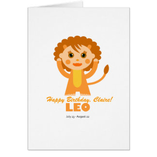 Leo Zodiac for Kids Greeting Card