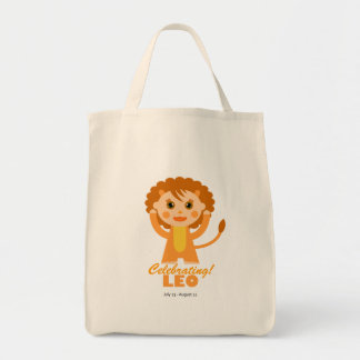 Leo Zodiac for Kids Grocery Tote Bag