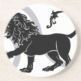 Leo zodiac horoscope astrology sign beverage coasters
